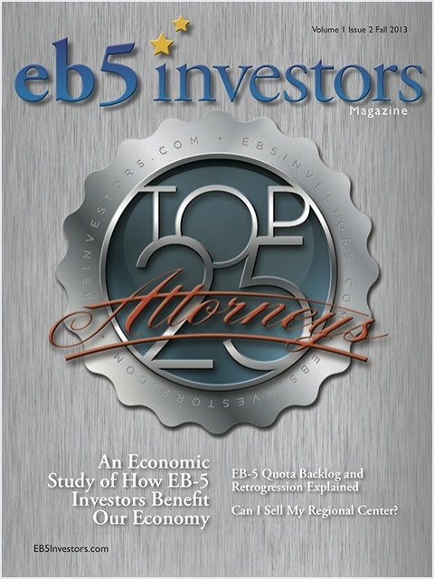 EB5 Investors Magazine Fall 2013 Issue